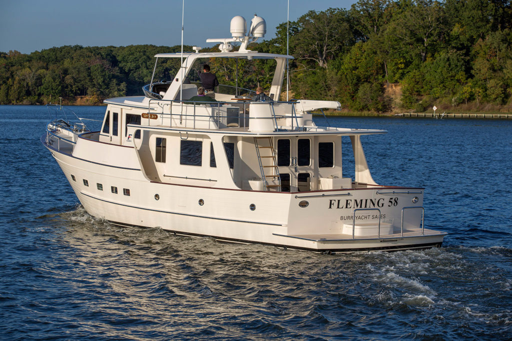 Fleming 58 Luxury Motoryacht For Sale - Burr Yacht Sales, Inc